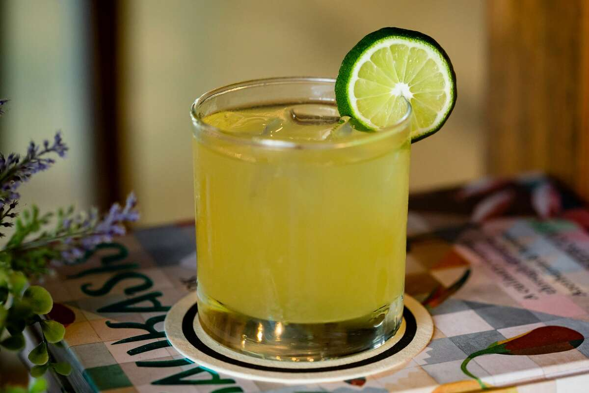 For something that hits closer to home, there's the My Mind's Playing Tricks on Me. A tribute to the 1991 hit song by Houston's Geto Boys, this house spin on a margarita is made with reposado tequila, orange-flavored French liqueur and yellow French liqueur. Lime juice and agave add the finishing touch.