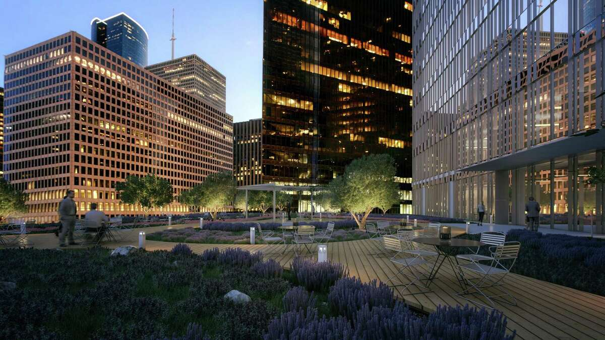 Skanska will add a Sky Park as an amenity for tenants at Capitol Tower 12 stories above the street level. An infinity edge will make it appear as though the24,000-square-footpark is floating in the sky. The 35-story building at 800 Capitol in downtown Houston will open in 2019 with Bank of America as the anchor tenant.