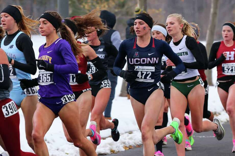 UConn junior Mia Nahom of New Milford recently finished fourth out of 226 runners at the NCAA Northeast Regional race at the Audubon Golf Course in Buffalo, N.Y., advancing her to the NCAA Championship. Photo: Contributed Photo / The News-Times Contributed