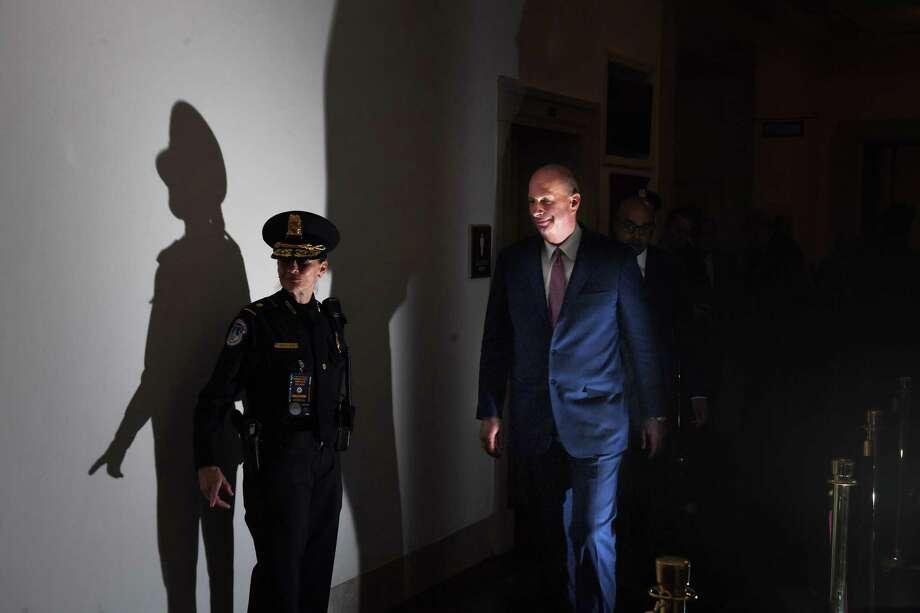 U.S. Ambassador to the European Union, Gordon Sondland is seen following a break as he appears before the House Intelligence Committee on Nov. 20, 2019. Photo: Washington Post Photo By Matt McClain / The Washington Post