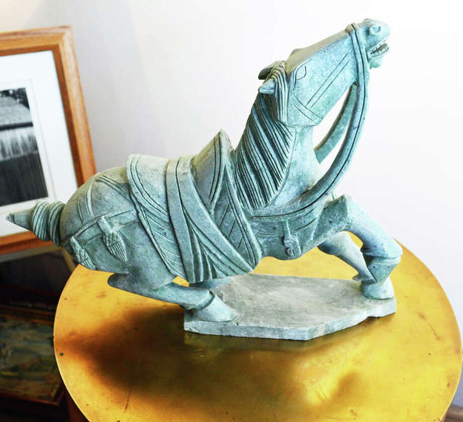 Sculptures, painting and other artwork are a large part of the offerings at Elsah Galleries. Photo: Photos By Vicki Bennington|For The Telegraph