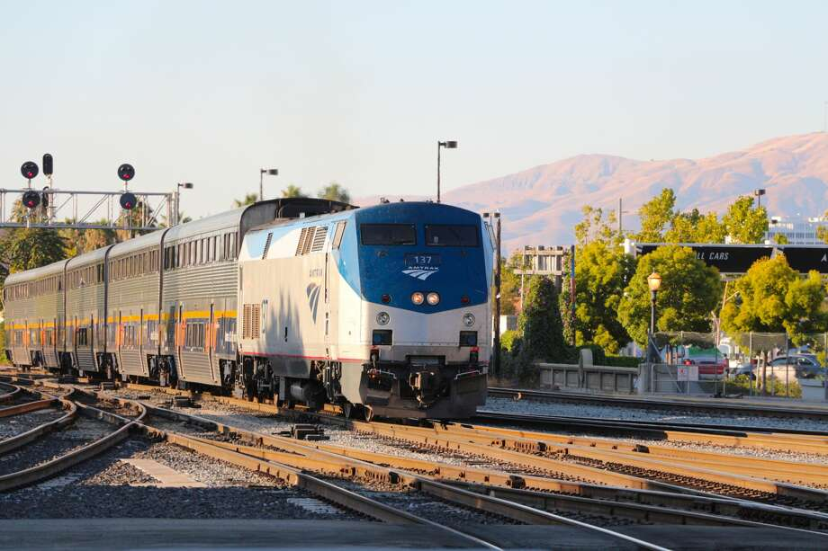 Amtrak train number 137 arriving at Diridon Railway Station in San Jose, California Photo: Lisa Werner/Moment Editorial/Getty Images