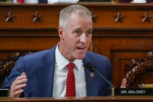 Rep. Sean Patrick Maloney, D-N.Y., questions Gordon Sondland, US Ambassador to the European Union, during a House Intelligence Committee impeachment inquiry hearing on Capitol Hill in Washington, Wednesday, Nov. 20, 2019. (Yara Nardi/Pool Photo via AP)