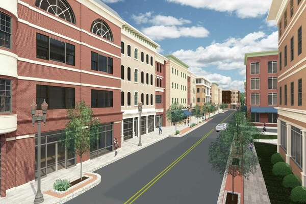 A rendering shows plans for Factory Street in Derby.