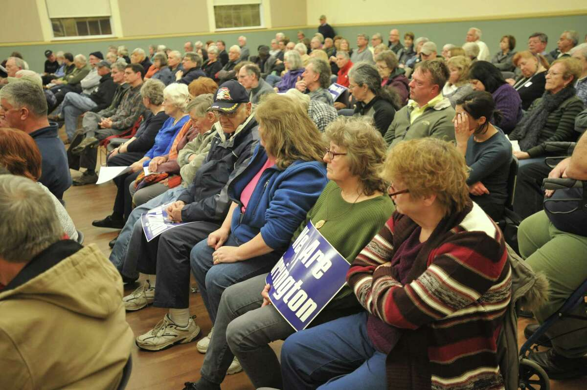 A public hearing on a proposed sewer pipeline to connect the Woodridge Lake housing development in Goshen to the Torrington system, held in March 2018, drew residents opposed to the plan. This week, officials said the project has been canceled.