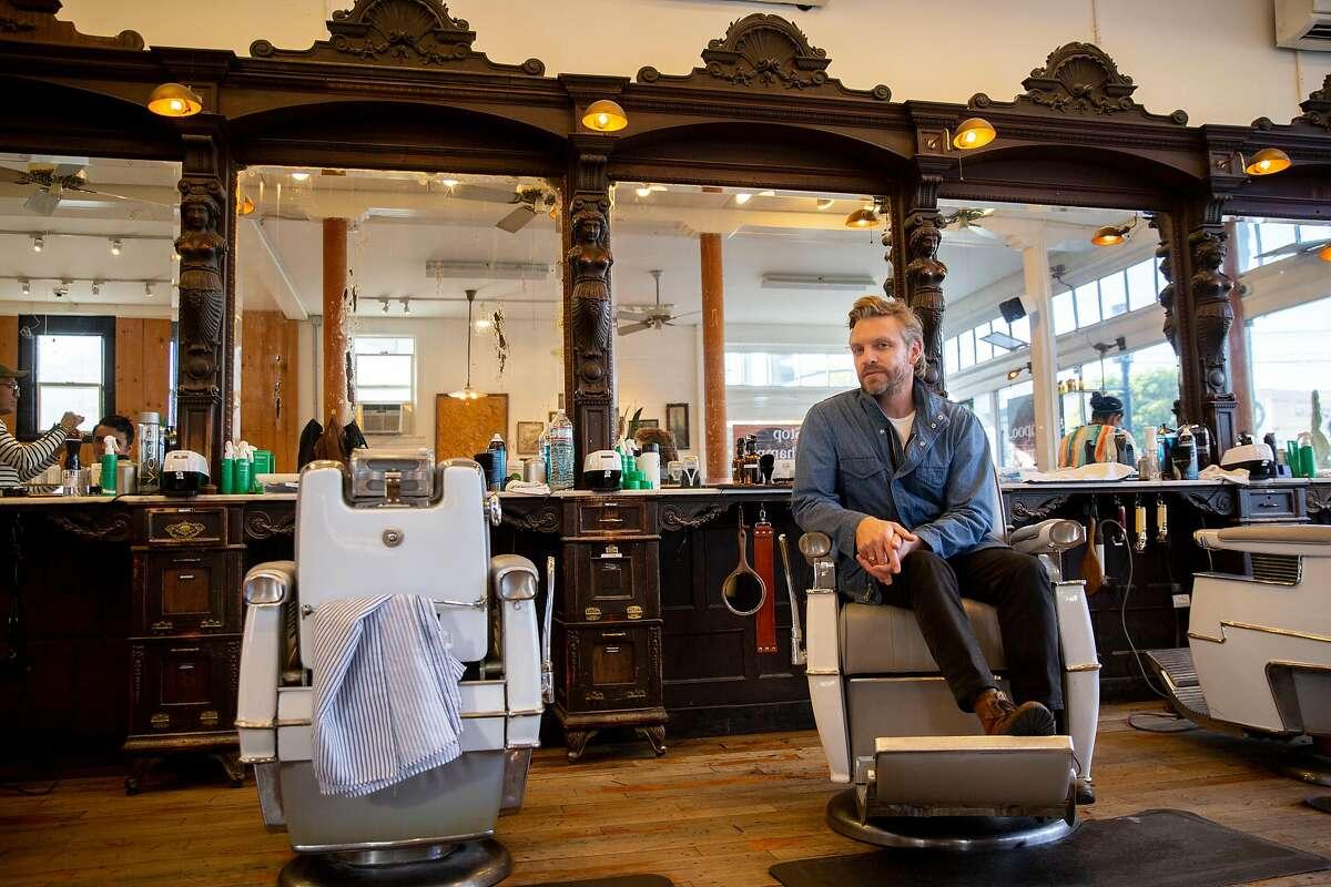 A portrait of Jonah Buffa, Fellow Barber co-owner, on Saturday, Nov. 16, 2019, in San Francisco, Calif.