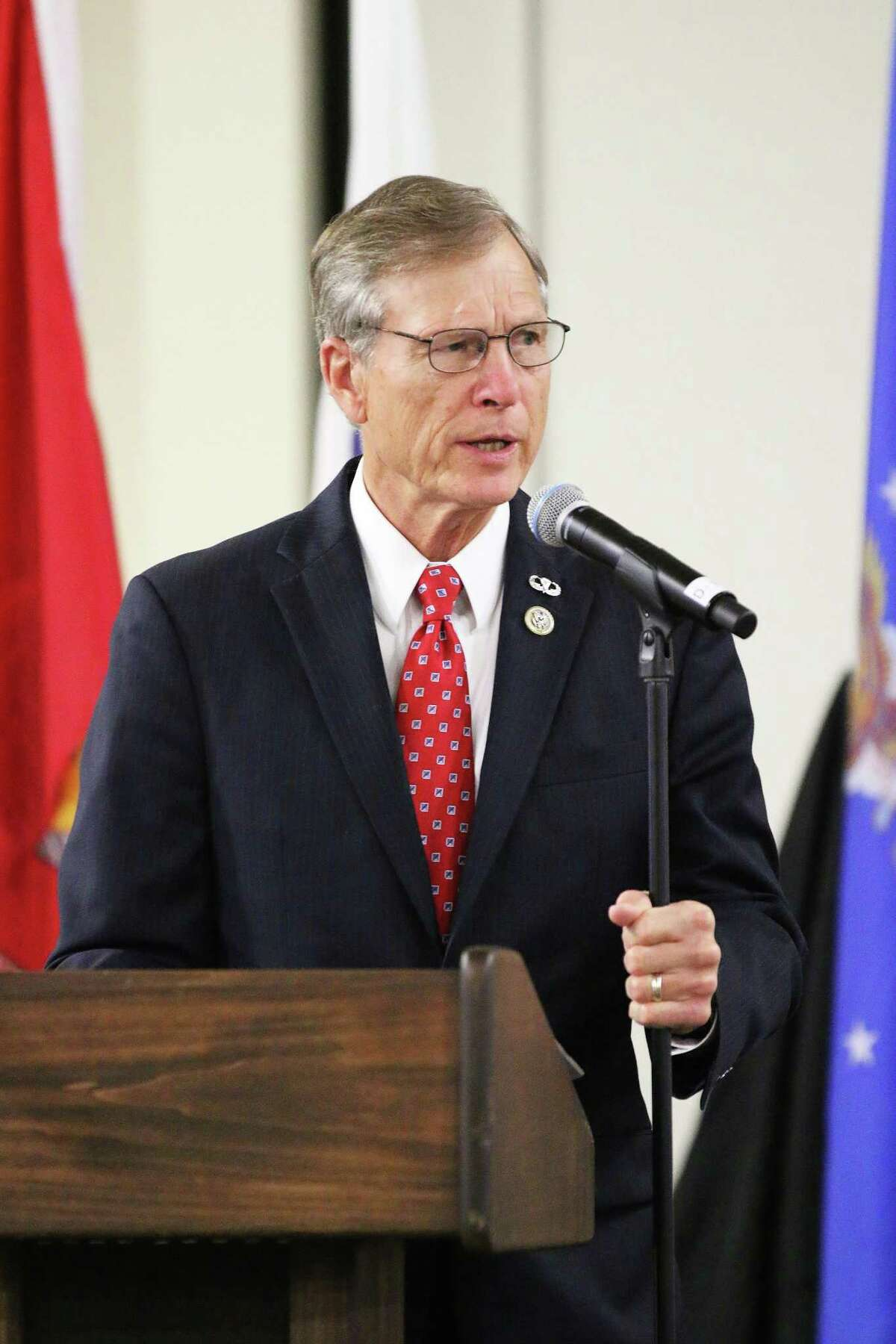 Brian Babin, left, a two-term congressment from the area's 36th District, is being challenged by RJ Boatman in the March 3 Republican primary.