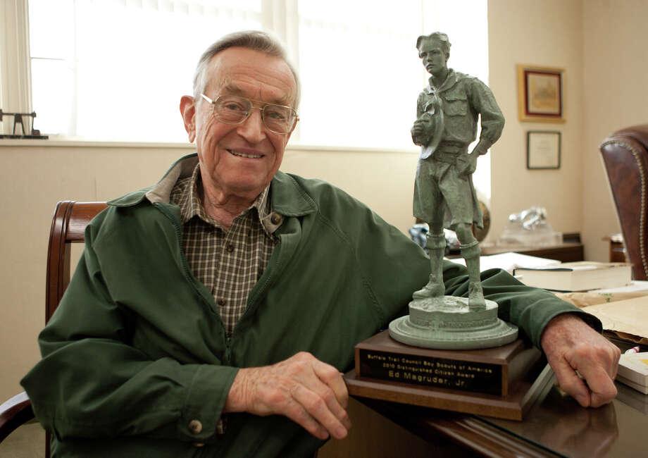 "Edwin ""Ed"" Magruder Jr.,the seasoned landman, World War II Navy aviator and former Midland mayor died Wednesday morning. Photo: Midland Reporter-Telegram"