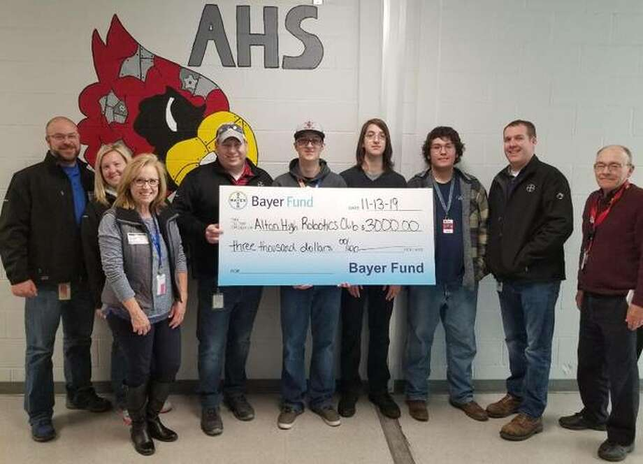 Bayer Fund has presented the Alton High School robotics team with a $3,000 grant to support its participation in the FIRST Robotics program.