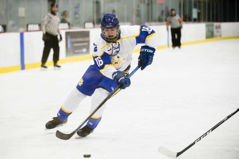 Midland's Isaac Daniel skates down the ice during the Chemics' game against Bay City Wednesday,Nov. 20, 2019 at Midland Civic Arena. (Katy Kildee/kkildee@mdn.net) Photo: (Katy Kildee/kkildee@mdn.net)