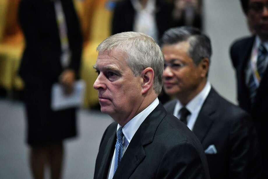 Britain's Prince Andrew, Duke of York (L) arrives for the ASEAN Business and Investment Summit in Bangkok on November 3, 2019, on the sidelines of the 35th Association of Southeast Asian Nations (ASEAN) Summit. (Photo by Lillian SUWANRUMPHA / AFP) (Photo by LILLIAN SUWANRUMPHA/AFP via Getty Images) Photo: LILLIAN SUWANRUMPHA / AFP