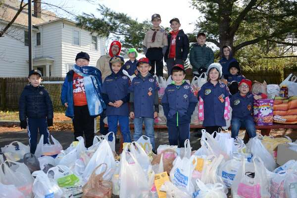 "Cub Scout Pack 2257 of East Greenbush collected food for the Regional Food Bank in Albany. Scouts collected 971 lbs. of food, more than doubling last year collection of 450 lbs. of food. Cub Scouts is for girls and boys in Kindergarten through 5th grade. Scouts would like to thank all that donated food which already has been distributed to local food pantries. The food drive was made possible with support from Price Chopper / Market 32 who donated drop off bags and ""Thank You"" reusable bags for those that donated at least three food items."