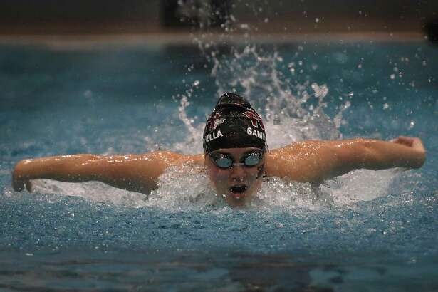 North Haven's Angela Gambardellla sets the Class M state record in the 200 Individual Medley with a time of 2:04.62 at the CIAC Class M girls swimming championships at Southern Connecticut State University in New Haven, Conn. on Wednesday, November 20, 2019.