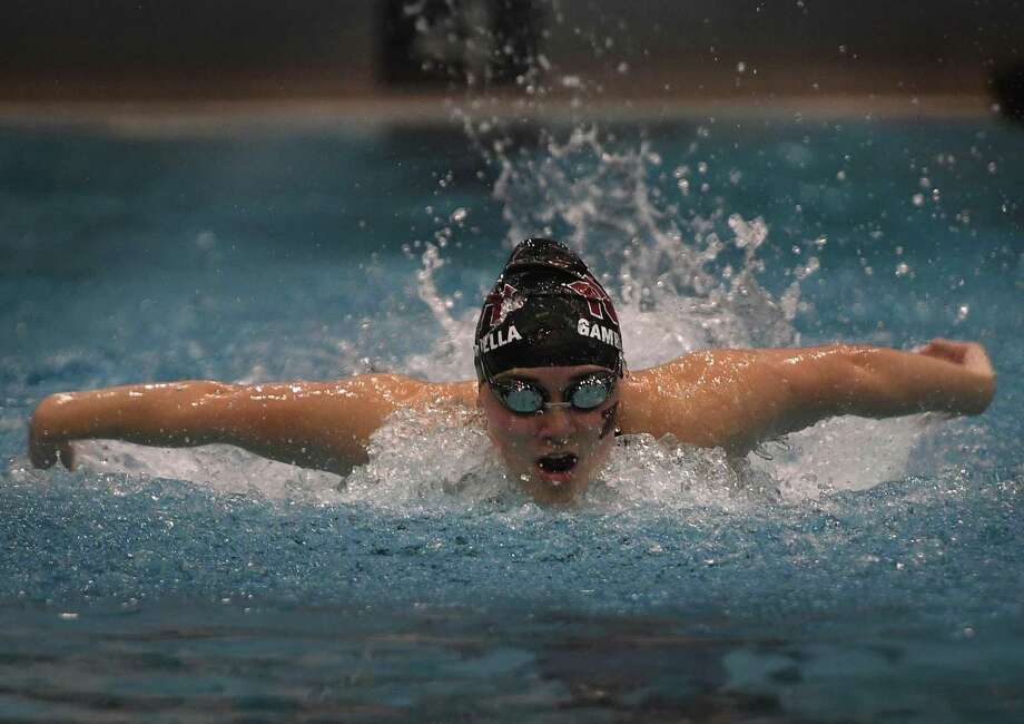 North Haven's Angela Gambardellla sets the Class M state record in the 200 Individual Medley with a time of 2:04.62 at the CIAC Class M girls swimming championships at Southern Connecticut State University in New Haven, Conn. on Wednesday, November 20, 2019. Photo: Brian A. Pounds / Hearst Connecticut Media / Connecticut Post