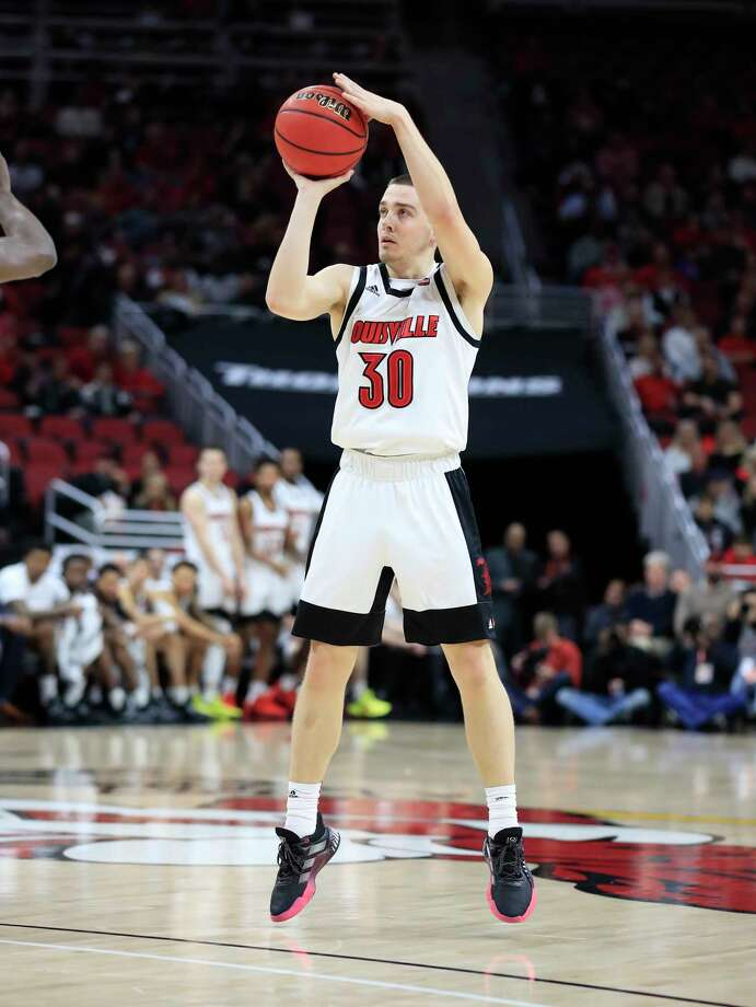 LOUISVILLE, KENTUCKY - NOVEMBER 20:   Ryan McMahon #30 of the Louisville Cardinals shoots the ball during the game against the USC Upstate Spartans at KFC YUM! Center on November 20, 2019 in Louisville, Kentucky. (Photo by Andy Lyons/Getty Images) Photo: Andy Lyons / 2019 Getty Images