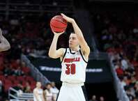LOUISVILLE, KENTUCKY - NOVEMBER 20:   Ryan McMahon #30 of the Louisville Cardinals shoots the ball during the game against the USC Upstate Spartans at KFC YUM! Center on November 20, 2019 in Louisville, Kentucky. (Photo by Andy Lyons/Getty Images)