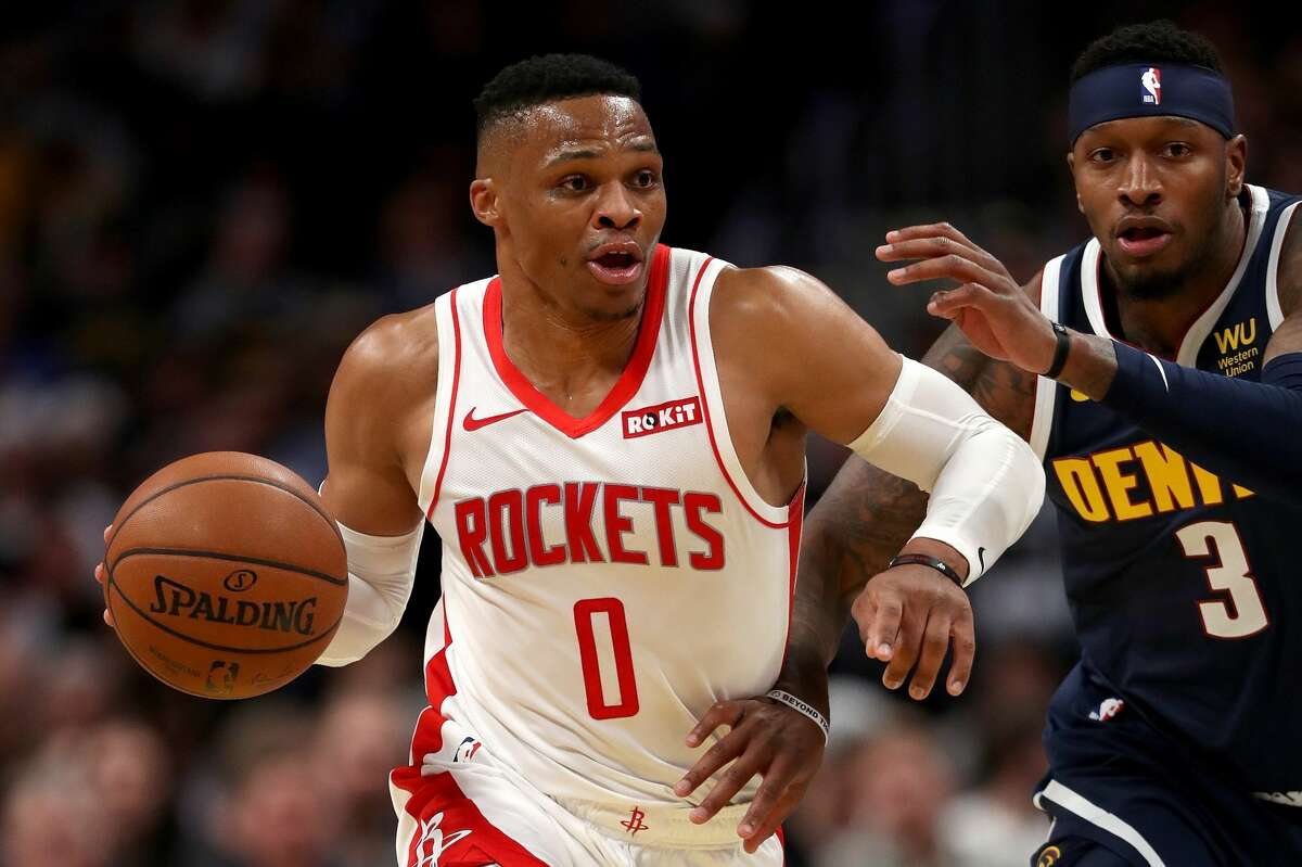 PHOTOS: Rockets game-by-game  DENVER, COLORADO - NOVEMBER 20: Russell Westbrook #0 of the Houston Rockets drives against Torrey Craig #3 of the Denver Nuggets in the second quarter at the Pepsi Center on November 20, 2019 in Denver, Colorado. (Photo by Matthew Stockman/Getty Images) >>>See how the Rockets have fared in each game so far this season ...