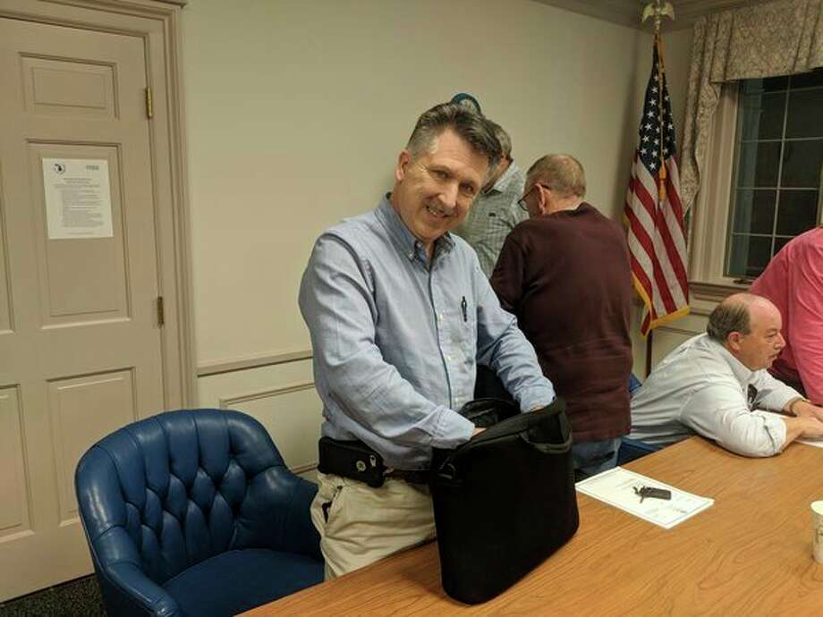 Gladwin City Councilman Mike Smith after being named mayor pro tem Monday night after the council's regular meeting. (Photo by Tereasa Nims for the Daily News)