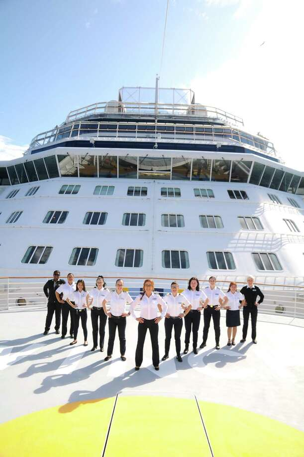The all-female bridge and officer team that will head the Celebrity Edge. Photo: Celebrity Cruises. / Celebrity Cruises