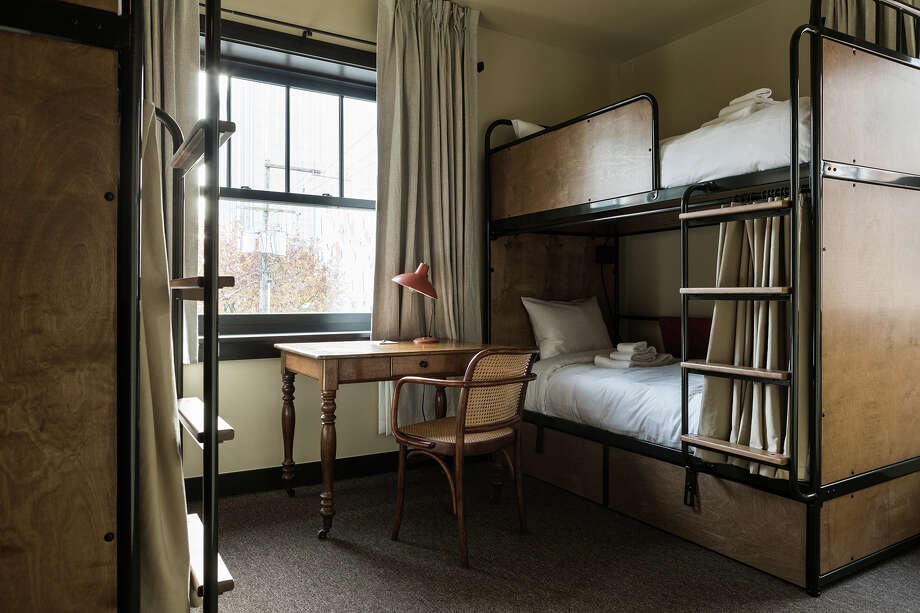 A desk in a shared room at Kex Portland. Photo: Kex Hotels / Courtesy of KEX Hotels
