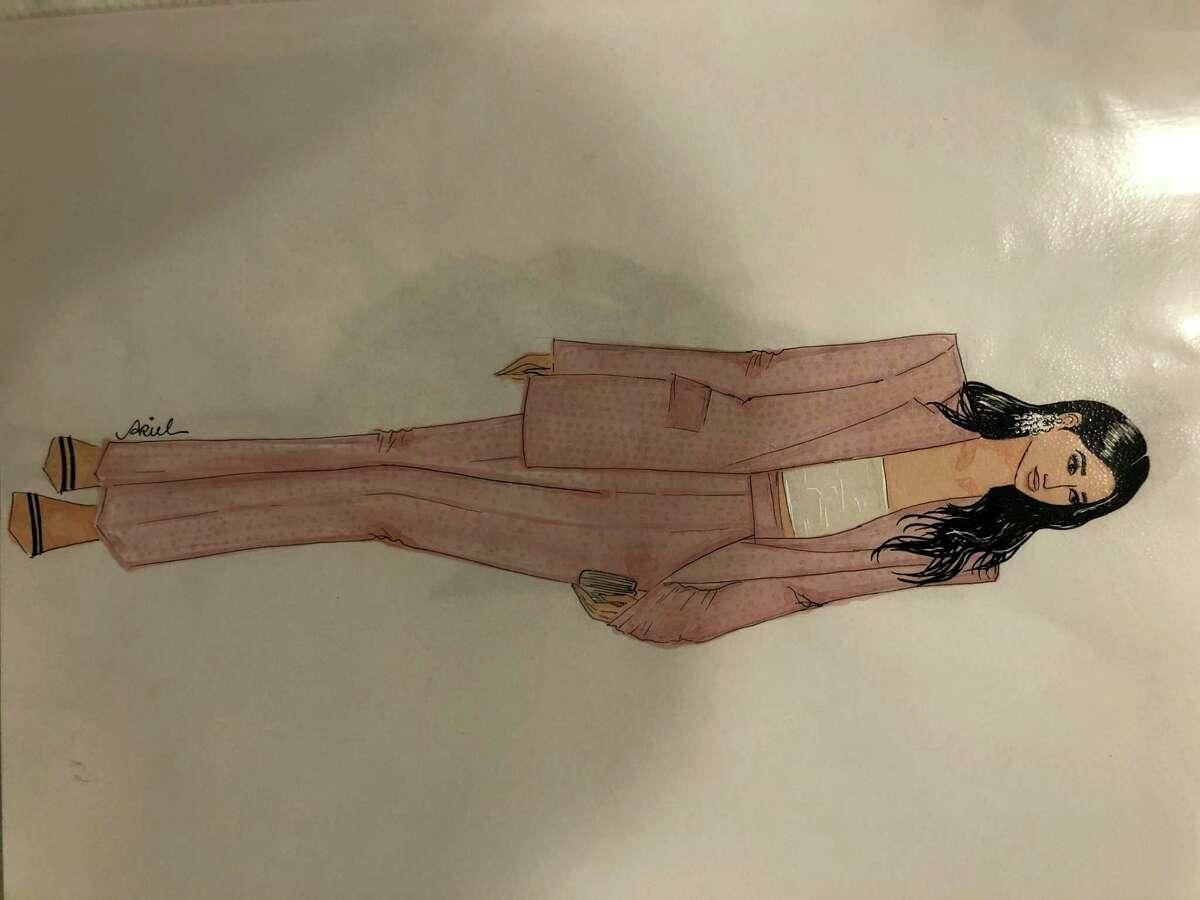 A fashion design sketch by Ariel Cavallini.