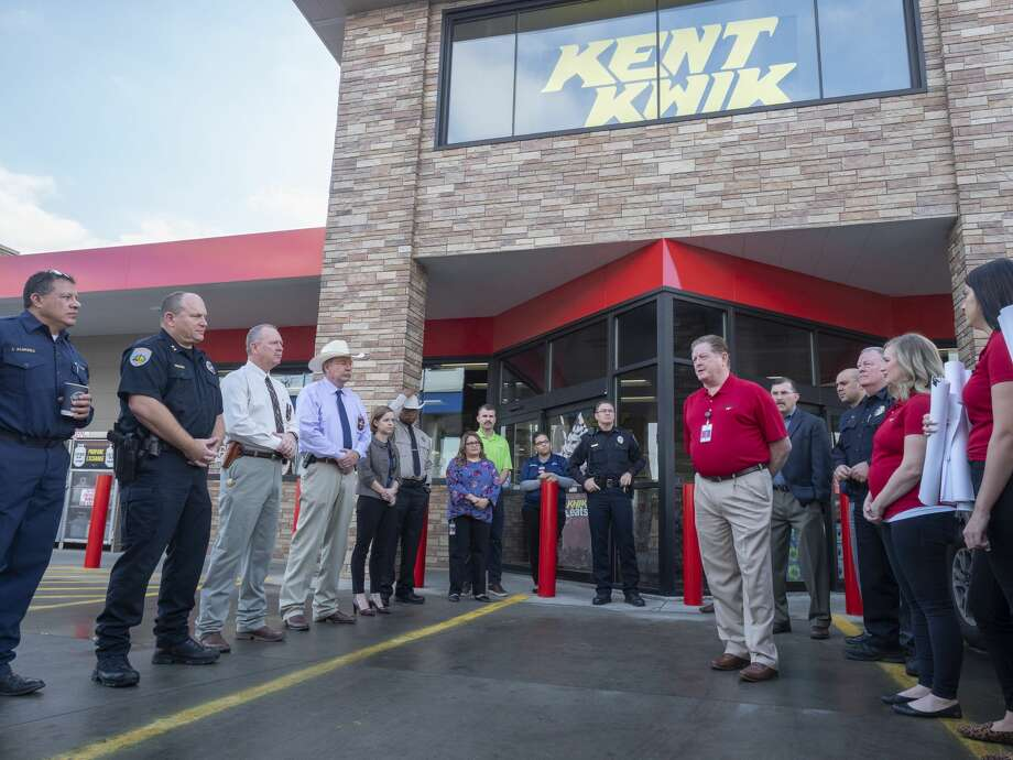 Bill Kent and his team at Kent Kwik speak 11/21/19 about their appreciation of area residents who donated nearly $100,000 to give to area first responders following the mass shooting in Odessa. Kent Company, along with Chevron, matched the funds collected and donated $33,333 to each local area first responders, as well as a $100,000 scholarship fund for children whos parents were killed in the shooting. Tim Fischer/Reporter-Telegram Photo: Tim Fischer/Midland Reporter-Telegram