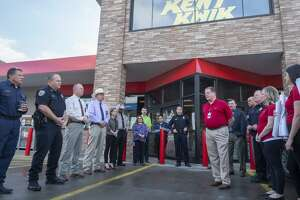 Bill Kent and his team at Kent Kwik speak 11/21/19 about their appreciation of area residents who donated nearly $100,000 to give to area first responders following the mass shooting in Odessa. Kent Company, along with Chevron, matched the funds collected and donated $33,333 to each local area first responders, as well as a $100,000 scholarship fund for children whos parents were killed in the shooting. Tim Fischer/Reporter-Telegram