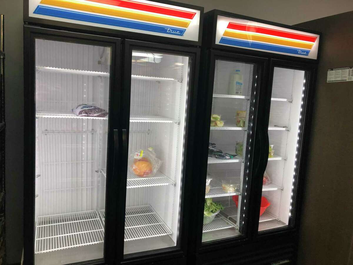 The Houston Food Bank's loss of refrigeration for produce that resulted in food being tossed also means less produce for its partners such as Katy Christian Ministries. Here's the Food For Change area which provides healthy food choices for shoppers sent by their doctor to the KCM food pantry. Produce seen in the photos represents donations from local grocery stores, said Holly Havlick, KCM food pantry director.