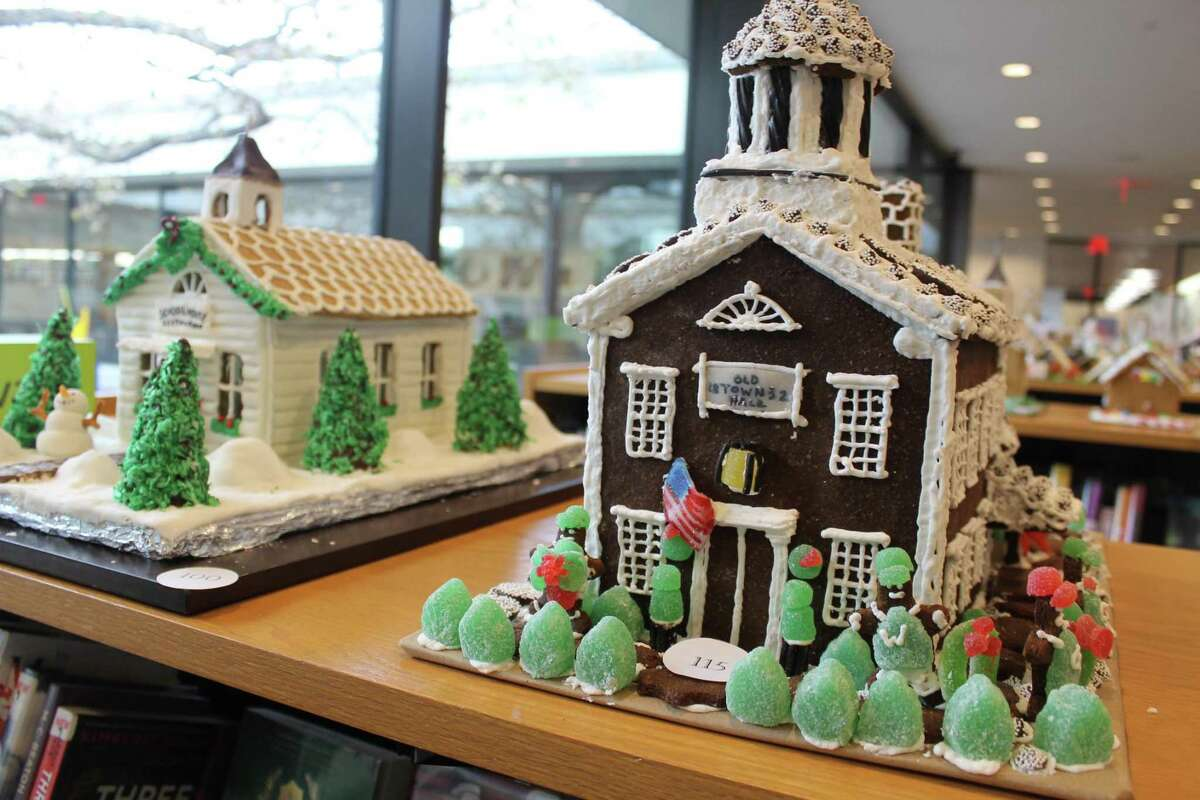 Entries in last year's How Sweet It Is in Wilton gingerbread contest at Wilton Library. The Parks and Recreation Department is sponsoring a gingerbread house contest this year.