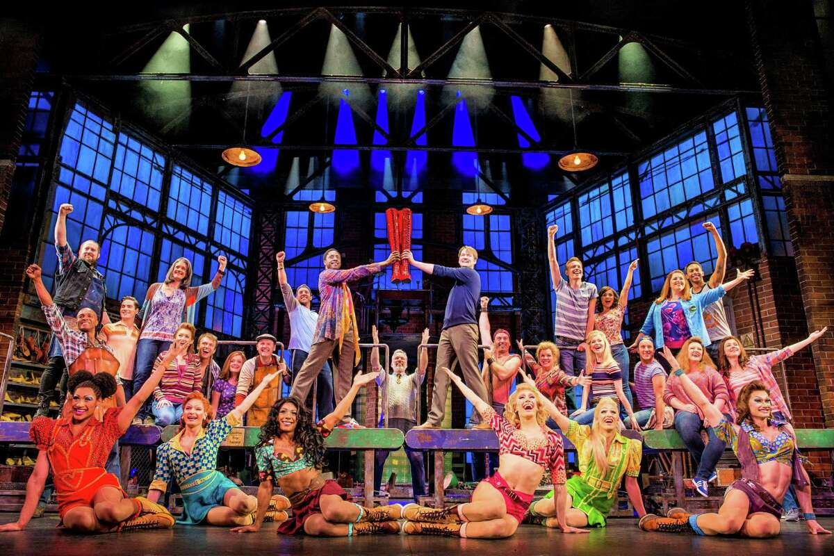 """""""Kinky Boots"""" isn't your conventional holiday fare, but this Tony-winning Broadway musical from Harvey Fierstein and Cyndi Lauper is the sort of splashy production that's bound to make viewers feel merry and bright."""