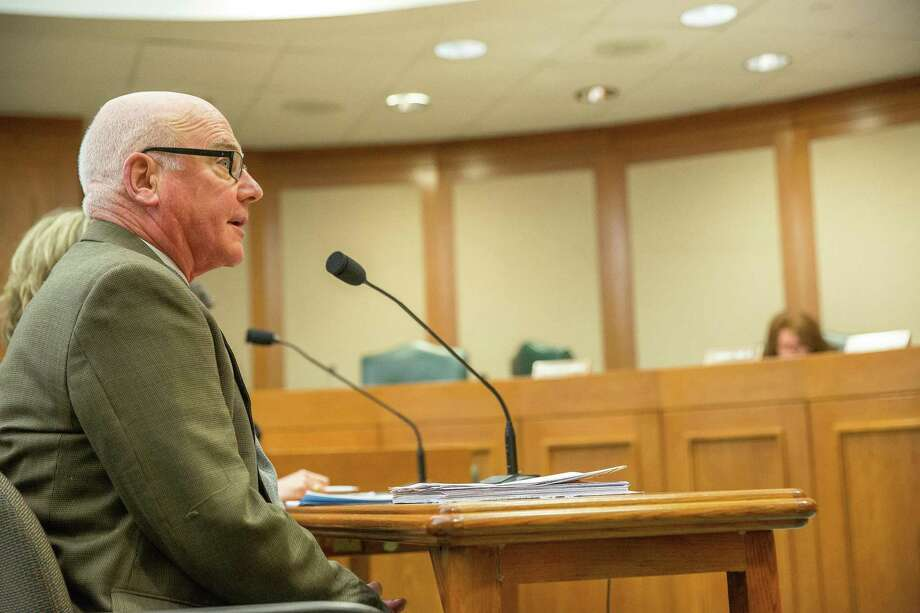 Dr. James Lukefahr, one of only 21 board certified child abuse pediatricians in the state, testifies before a Texas House of Representatives Human Services Committee hearing at the capitol in Austin, Texas on Nov. 12. Photo: Julia Robinson / Contributor / ©  Julia Robinson 2019