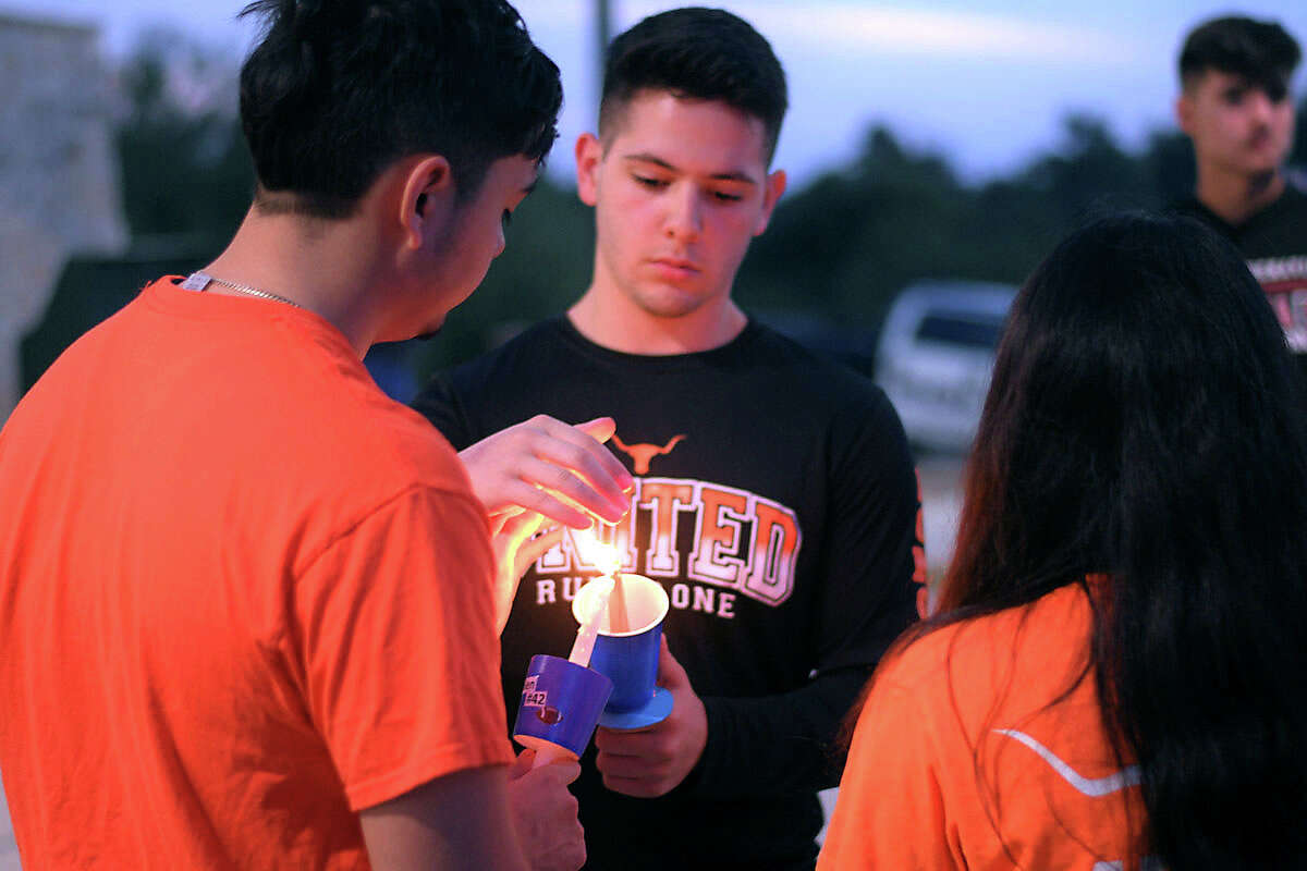 Locals gathered together to pay tribute to Jalen Garcia, the United High School football player who died after a years-long battle with cancer.