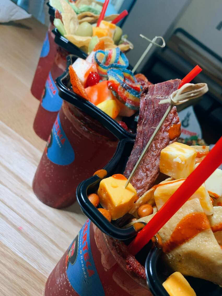 Decked-out micheladas Where to find them: Burgerteca in section 201 $18.50