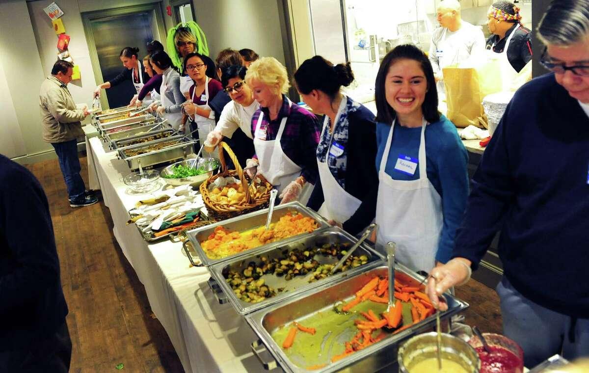 Saugatuck Congregational Church's 46th Annual Community Thanksgiving Feast in Westport, Conn. on Thursday Nov. 24, 2016.