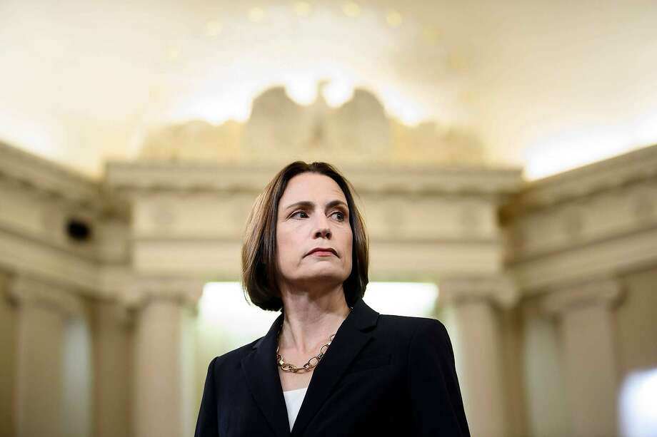 Fiona Hill, the former top Russia expert on the National Security Council, arrives to testify during the House Intelligence Committee hearing as part of the impeachment inquiry into US President Donald Trump. Photo: Brendan Smialowski, AFP Via Getty Images