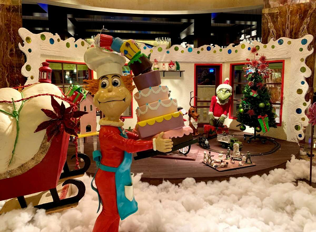 The larger-than-life masterpiece is handcrafted from 700 pounds of gingerbread, 250 pounds of royal icing, 30 gallons of molasses, 500 pounds of butter, 900 pounds of sugar and 880 eggs. It took crews 2,000 hours and five months to create the display.