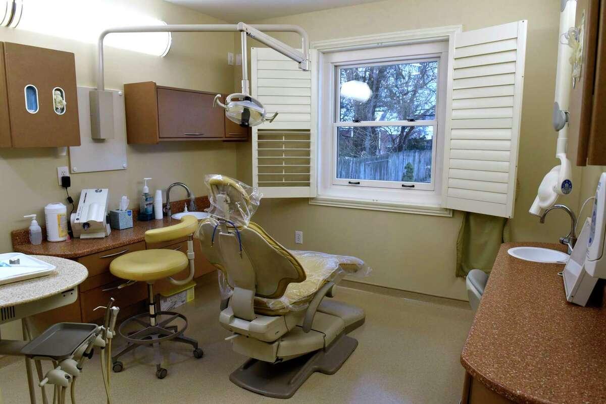A scene from a dentist's office in Albany in 2019. (Lori Van Buren/Times Union)