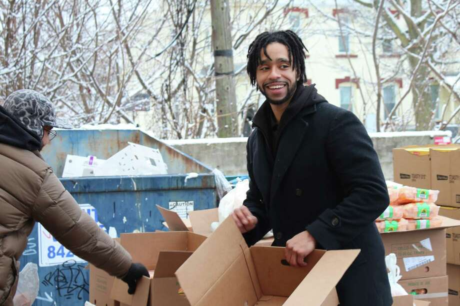 More than 300 people come out for the CC Move food drive at the Centro Civico offices in Amsterdam Photo: Provided