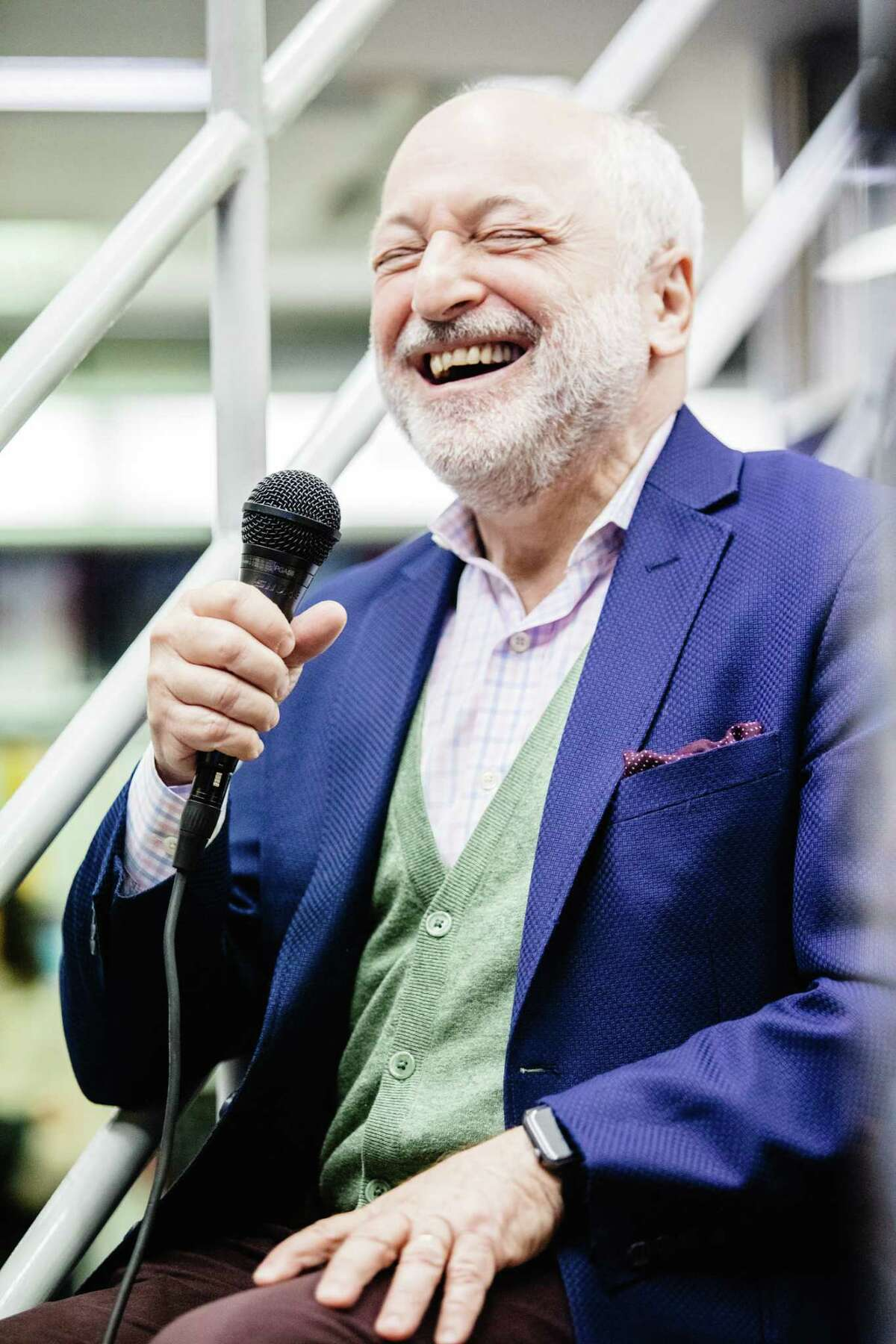 American writer Andre Aciman attends the presentation of his new book