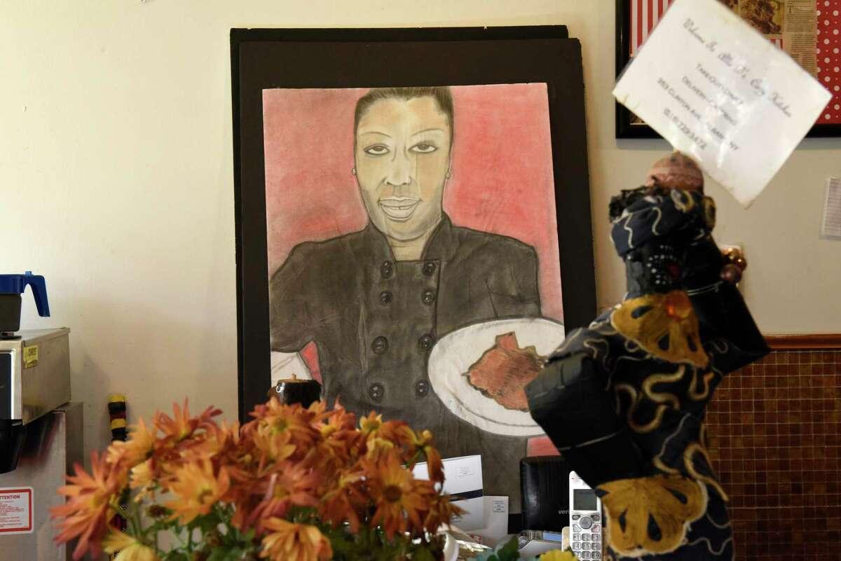 Artwork is seen in Allie B's Cozy Kitchen on Clinton Ave. on Wednesday, Nov. 13, 2019 in Albany, N.Y. (Lori Van Buren/Times Union)