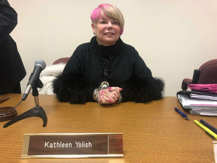 Kathy Yolish was elected the new chairman of the Board of Education during its meeting Wednesday, Nov. 20. Photo: Brian Gioiele / Hearst Connecticut Media / Connecticut Post
