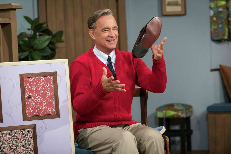 """This image released by Sony Pictures shows Tom Hanks as Mister Rogers in a scene from """"A Beautiful Day In the Neighborhood,"""" in theaters on Nov. 22. (Lacey Terrell/Sony-Tristar Pictures via AP) Photo: Lacey Terrell / ©2019 CTMG, Inc. All rights reserved. Photo by: Lacey Terrell **"""
