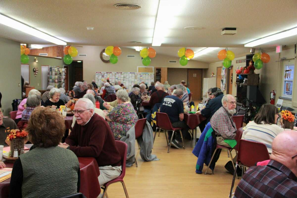 Area residents gathered to celebrate the holidays early during the annual Thanksgiving feast hosted by the Mecosta County Commission on Aging and Activity Center. During the celebration, guests enjoyed a meal with family and friends while singing along to music performed by pianist Dave Marasus.