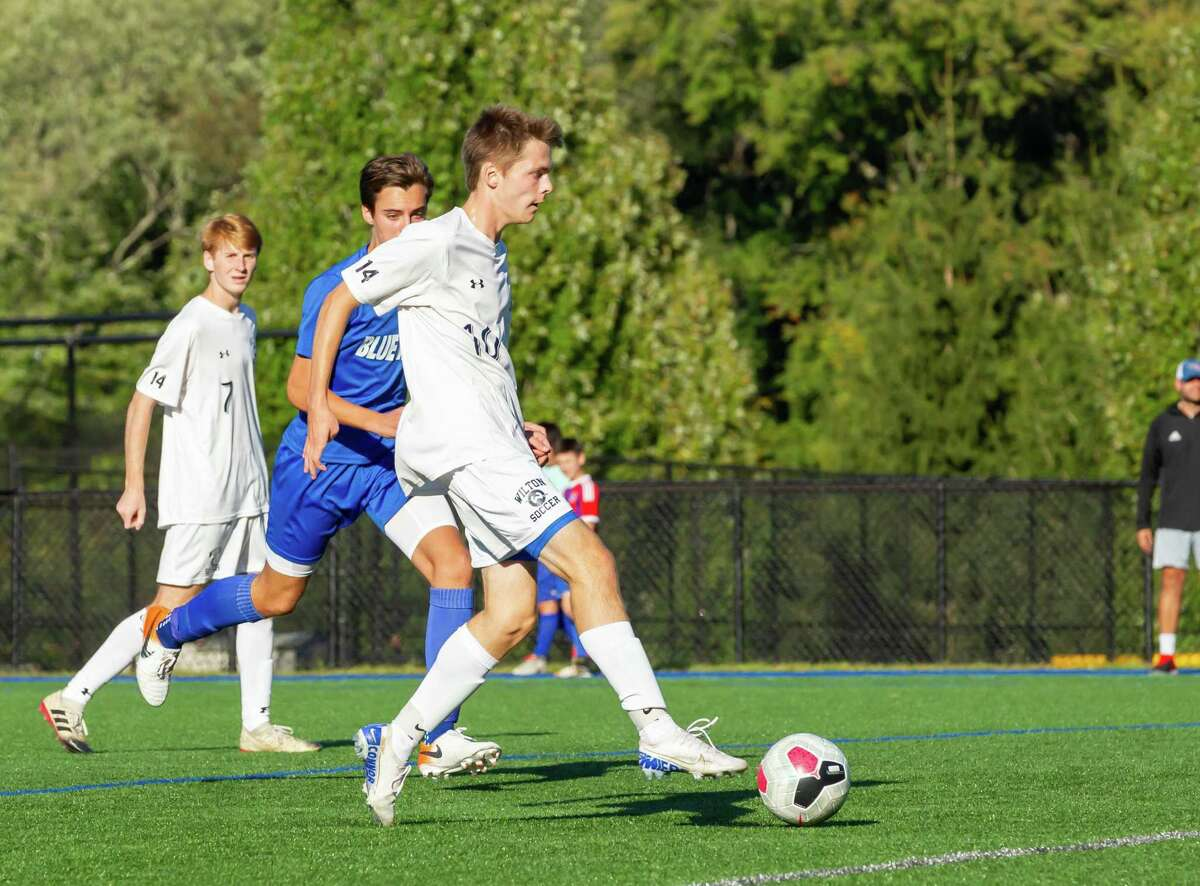 Connor Uitterdijk and the Wilton boys soccer team play Hand for the Class L title on Saturday.
