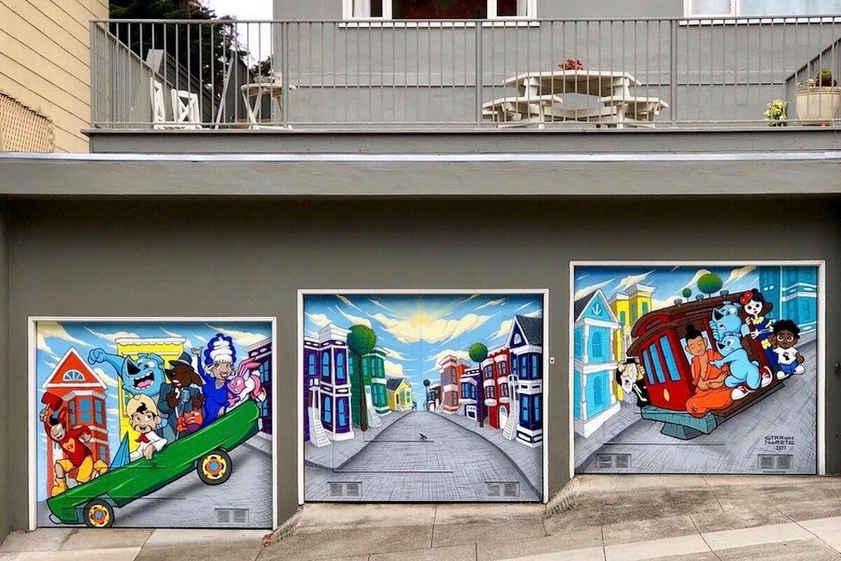 Garage doors around San Francisco.