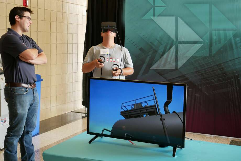 Oilfield services company Danos is launching a virtual reality competency assessment and training program that simulates a production facility. Photo: Courtesy Of Danos