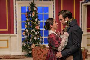 "Classic Theatre will once again be staging ""Miss Bennet: Christmas at Pemberley"" in December. It has become a holiday tradition at the theater; the first two stagings starred, from left, Alyx Gonzales and Hunter Wulff."