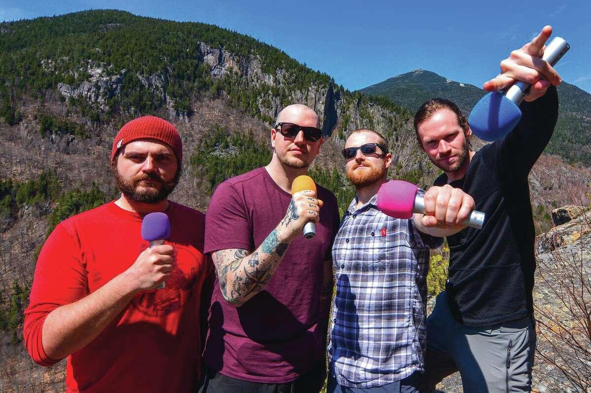 The Foot Stuff crew in its native habitat -- the Adirondacks. From left, Wade Bastian, Jeremy Utz, Matt Baer and Tyler Socash. (Courtesy photo)