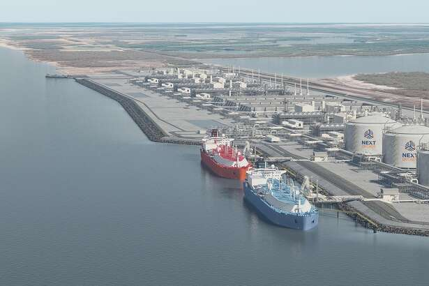 Artist rendering of NextDecade's proposed Rio Grande LNG export terminal at the Port of Brownsville.