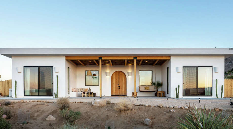 A globetrotting couple's new build in the desert draws inspiration from their world travels. Photo: Swiley Interior Photography